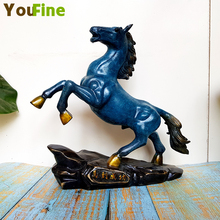 Pure copper horse ornaments running to success bronze office home accessories decoration business gift