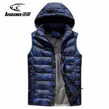 цена LXIAO Heated Vest 2018 Winter New Arrival Smart Heating Men Vest Outdoor Sport Warm Hooded Down Cotton Vest Men Plus Size XL-5XL онлайн в 2017 году