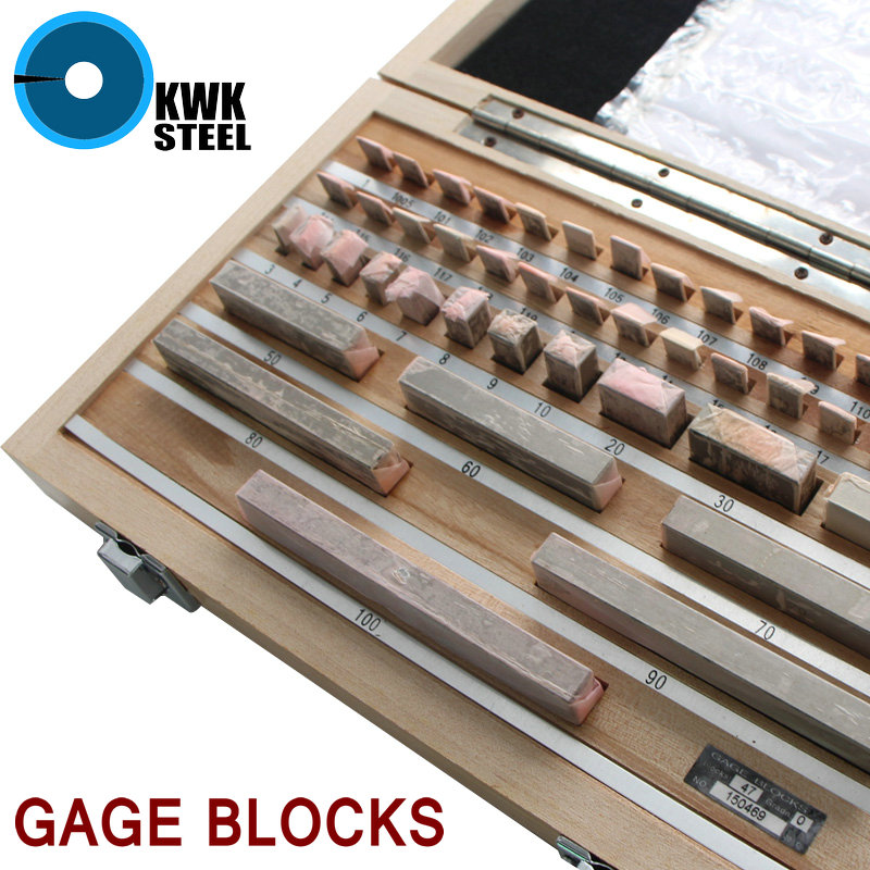 Gage Blocks Set 0.5-100mm Size Gage Block Reference Inspection Gauge Top Quality Grade 0 with Plywood Box metric bridge cam welding gauge mg 8 weld gage inspection ws genuine