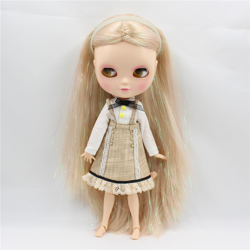 Neo Blythe Doll with Blonde Hair, White Skin, Shiny Face & Jointed Azone Body 1