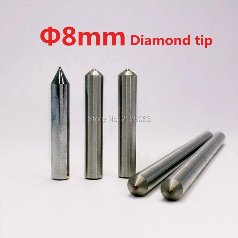 2pcs/lot engrave tool diamond tipped dremel engraver tip drag engraving bit 8mm shank diameter