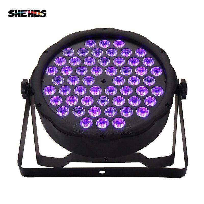 LED Flat Par 54x3W Violet Color DMX512 Stage Effect Lighting For DJ Disco Party Wedding Decoration