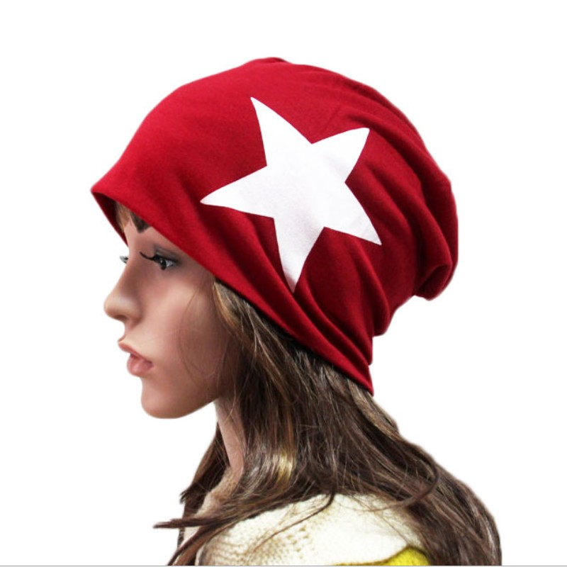 2016 new autumn and winter five-pointed star hat hat female models Spring Women Beanie Hat Beanies Caps