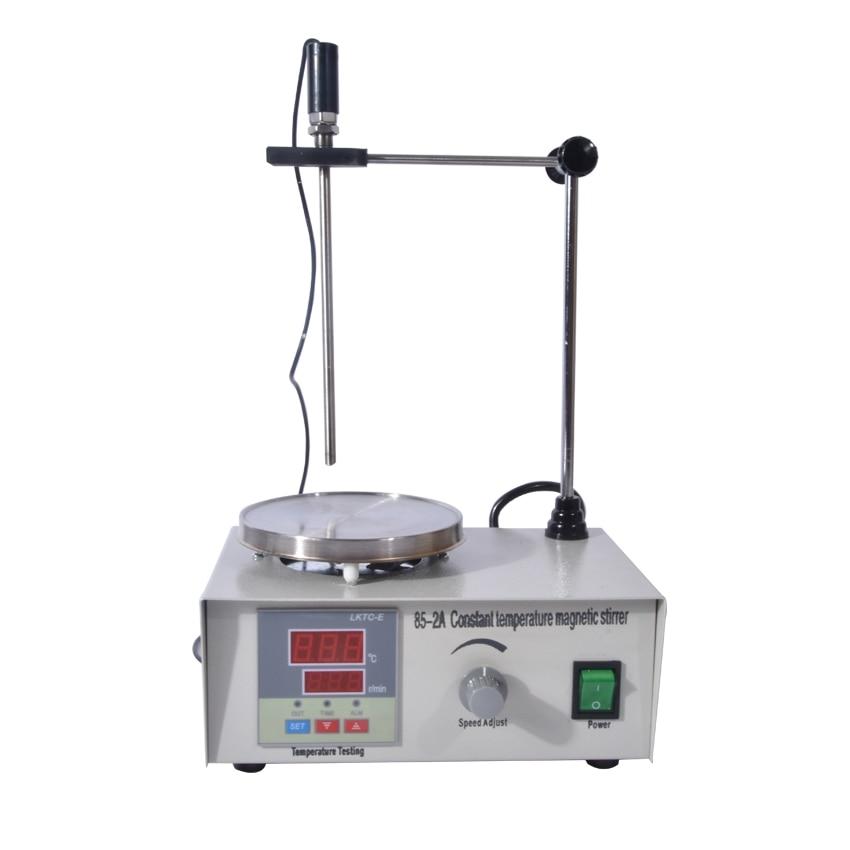 1PC 85-2A Lab Mixer Double digital display Heating Constant temperature Magnetic Stirrer 100-2000r/min 220V digital shear emulsification lab mixer lr 10 mixer disperser emulsifying machine 10kg capacity 220v or 110v