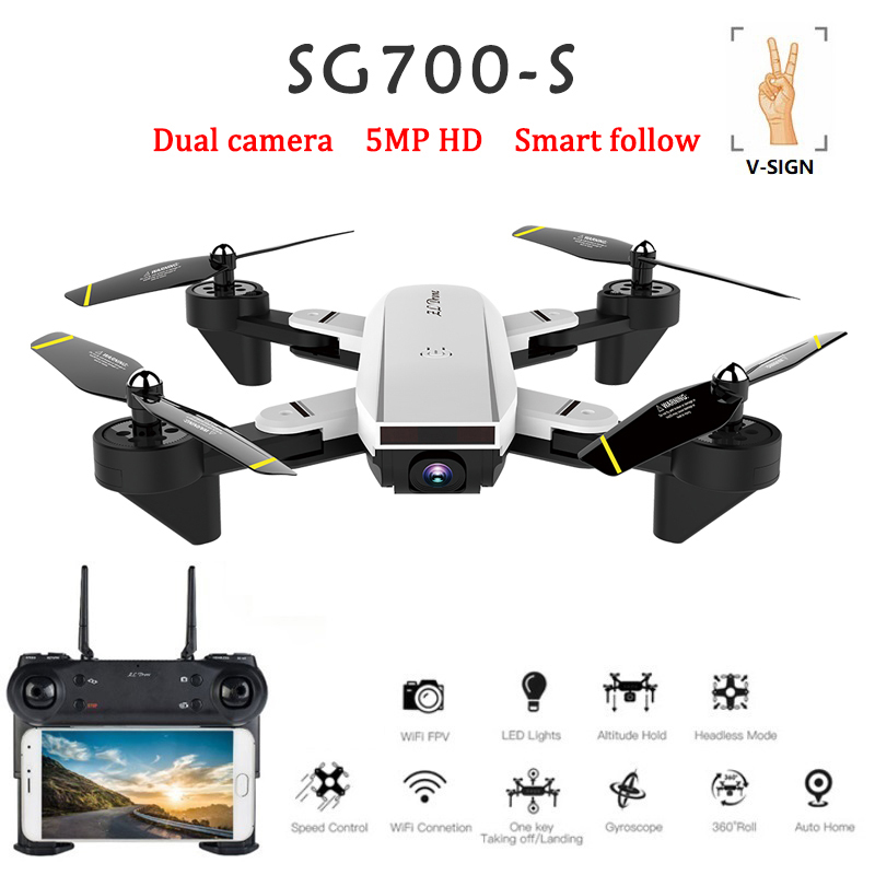 RC Helicopter With 1080p Camera Wide Angle Selfie Drone Palm Control Quadcopter With WiFi Camera SG700 SG700-S DronRC Helicopter With 1080p Camera Wide Angle Selfie Drone Palm Control Quadcopter With WiFi Camera SG700 SG700-S Dron