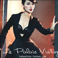 Le palais винтаж женщин ретро черный с длинным рукавом тонкий ле курения блейзер элегантный весте дамы офис пальто плюс размер pin up куртка