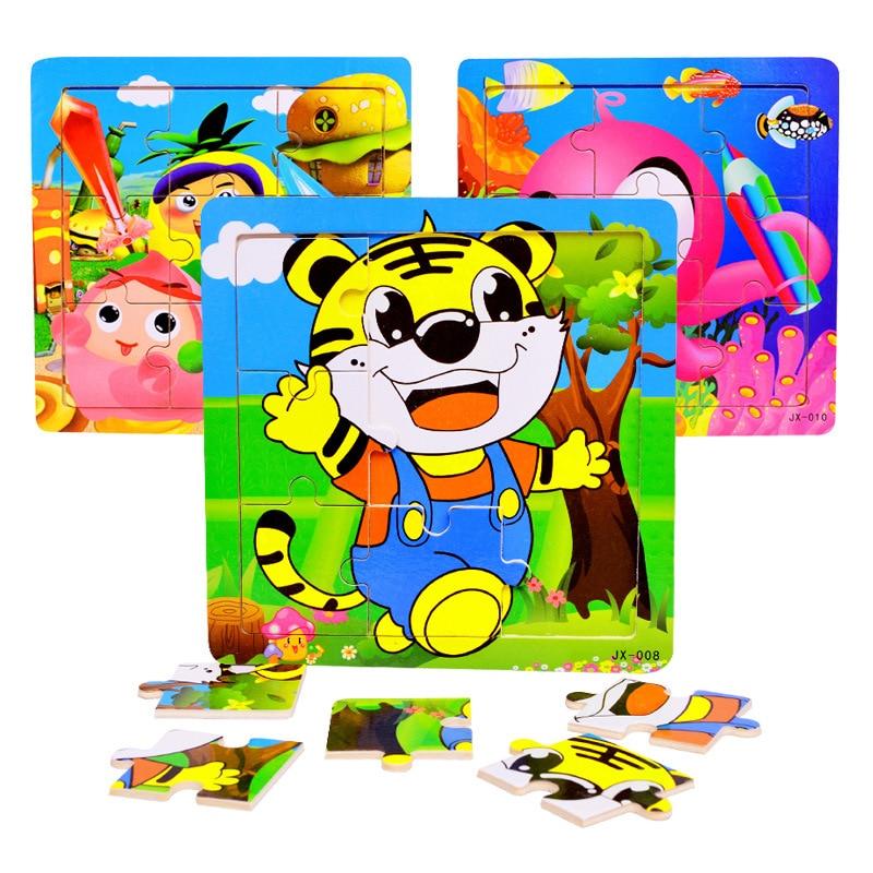 1 год Логические игрушки для детей с изображением героев мультфильмов brinquedos 9 шт. пазл juguetes аниме деревянная игрушка