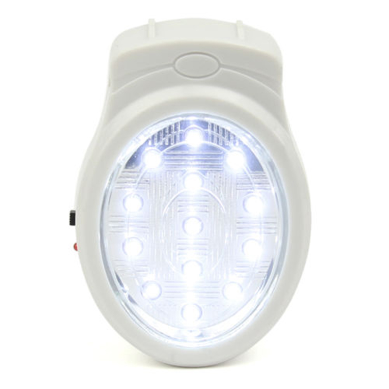 US PLUG 13 LED Rechargeable Home Wall Emergency Light Power Failure Lamp Bulb