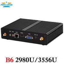 Big Selling!Mini Desktop PC with Celeron 2955U Pentium 3556U Processor VGA LAN HDMI Ports Partaker B6