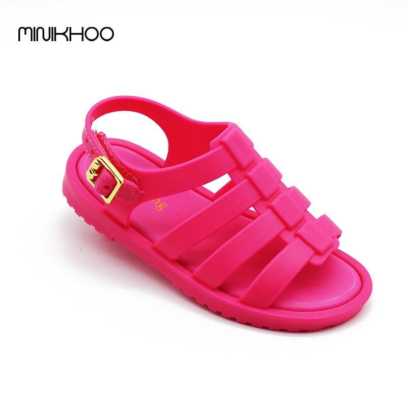 Mini Melissa Brazil Roman Sandals Boys Girls Sandals Flox Jelly Shoes Sandals Children'S Shoes Roman Melissa Hollow Breathable