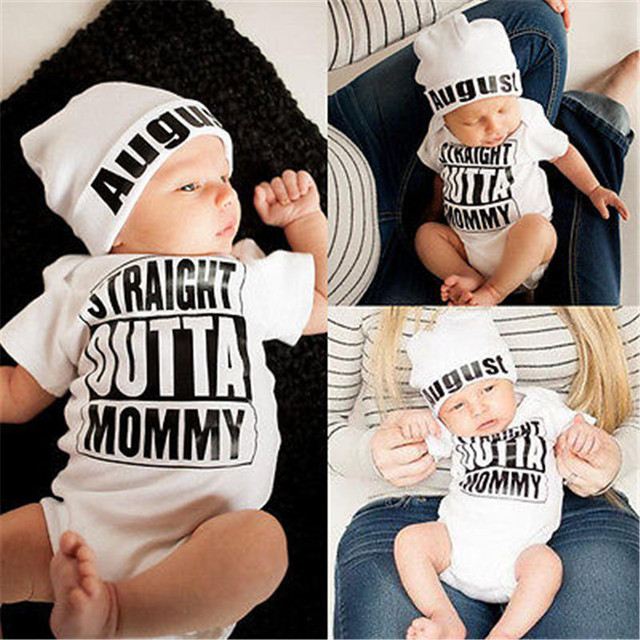 Hot sale White Newborn Baby Girl Boy Clothes Bodysuit Romper Jumpsuit Outfits One-pieces 0-18M 1