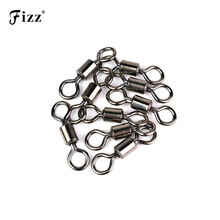 20x Stainless Steel Ball Bearing Swivel Solid Rings Fishing Connector 6/9/11/13/16/19mm Accessories 1# 4# 6# 8# 10# 12#