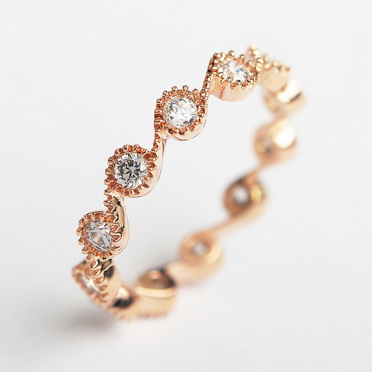 ITALINA Red Apple New Spring Fashion Design Ring For Women Rose Gold ...