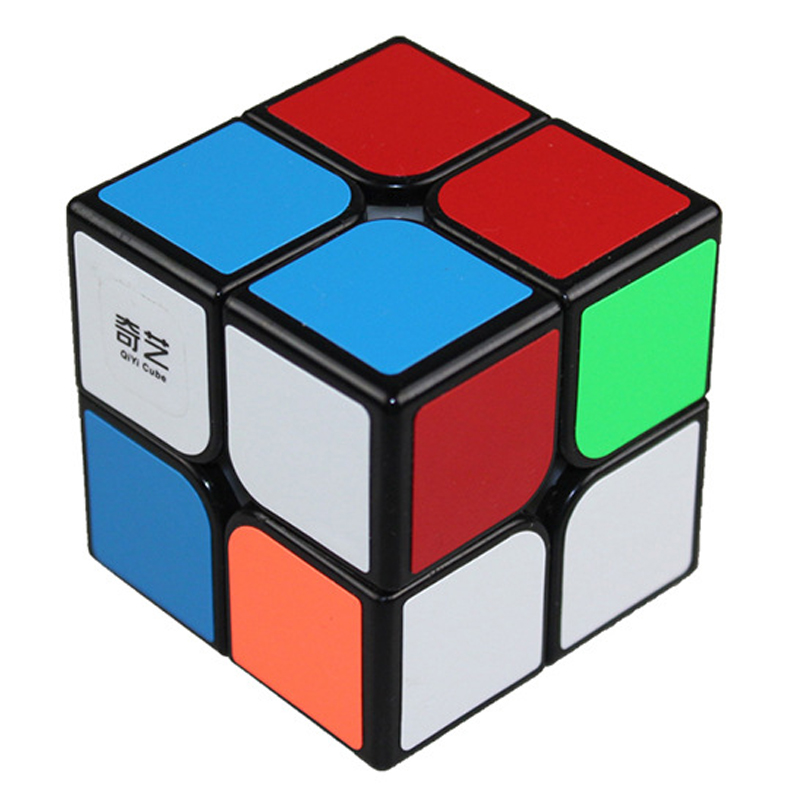 Qiyi cube 2X2 magic cube 2 by 2 cube 50mm speed pocket sticker puzzle cube professional educational toys for children Термос