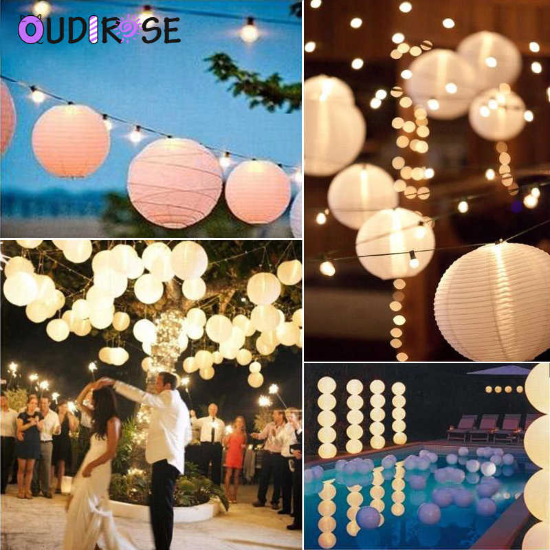 OUDIROSE 4/6/8/10/12/16 นิ้วรอบกระดาษโคมไฟวันเกิดงานแต่งงานตกแต่งของขวัญหัตถกรรม DIY แขวน Ball Party อุปกรณ์วันหยุด