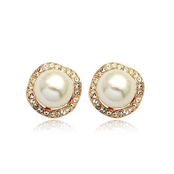 Atmospheric pearl ball micro-encrusted ear clips Vintage female earrings Birthday gift CBA07Atmospheric pearl ball micro-encrusted ear clips Vintage female earrings Birthday gift CBA07