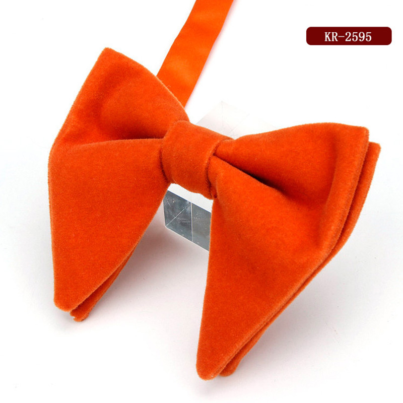 Men Groom Bow Tie Necktie Solid Color Thicken Large For Wedding Party Suit Best Man -MX8