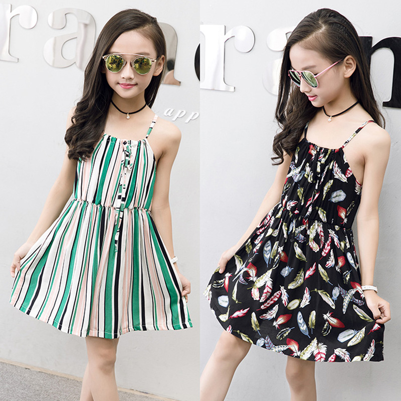 8d539340c849 Abreeze 2018 Summer girls clothes New bohemian style kids dresses ...