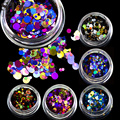 STZ 1g Hot Beauty Deep Mixed Mini Round Thin Nail Art Glitter Paillette 3d Nail Decorations Laser Shinning Tips P1-7