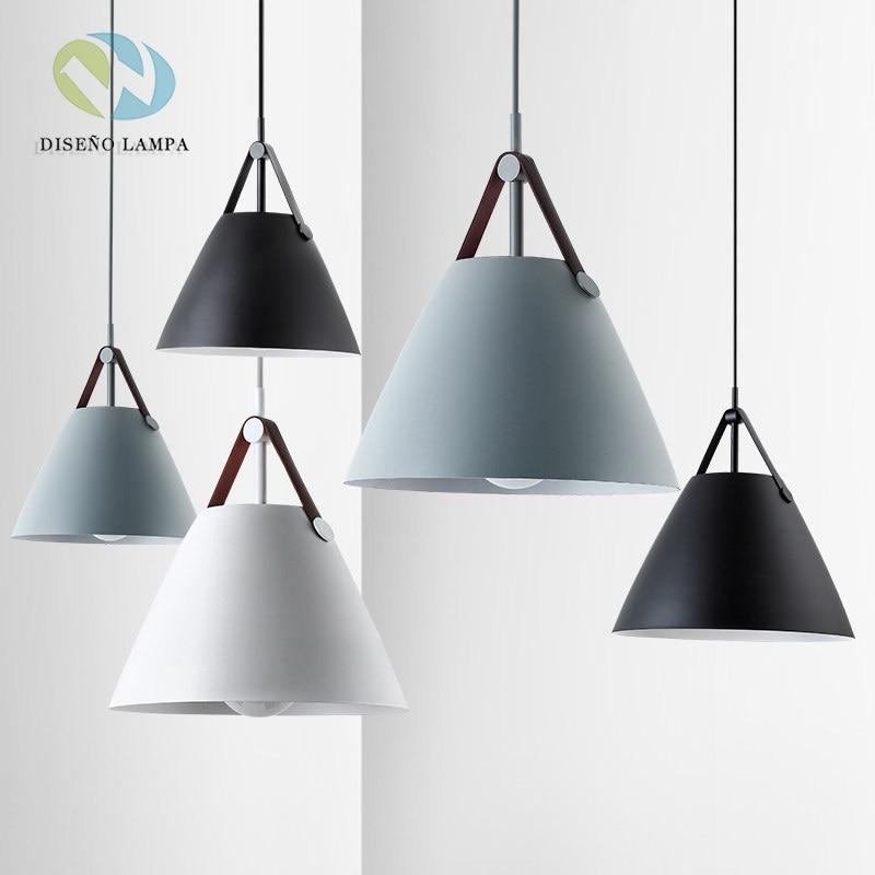 LED E27 Simple Macaron Color Pendant Lamp Lights Kitchen