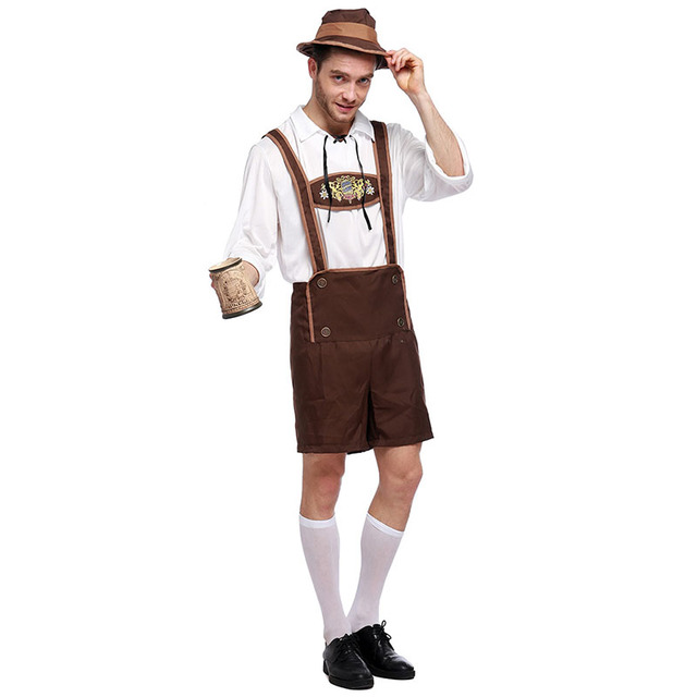 German Oktoberfest Clothing Halloween Beer Costume Men Bavarian Beer Guy Carnival Party Cosplay Outfit Sexy Costumes  sc 1 st  AliExpress.com & German Oktoberfest Clothing Halloween Beer Costume Men Bavarian Beer ...