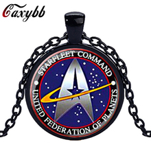 2017 New Fashion Star Trek glass Necklace Pendant Science vintage  pendent Glass Dome Necklace for christmas gift jewelry N1124