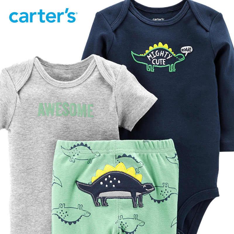 ... Carter s 3-Piece Little Character Set Cute cartoon print long sleeve  baby boy bodysuits autumn ... 05a4554d3