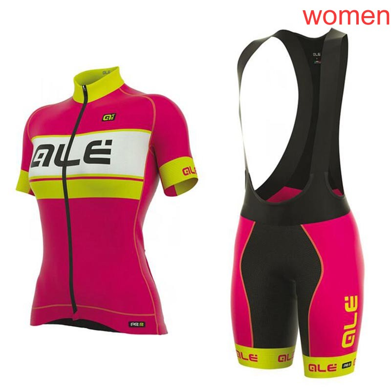 ALE cycling jersey women 2018 summer breathable mountain bike clothing short sleeve bicycle shirt /bib shorts ropa ciclismo C141