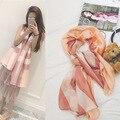 2016 Мода Люксовый Бренд Шелковый Шарф Женщины длинные теплый Шарф большой размер плед Одежда для Пляжа Платки и Шарфы Мыс Femme пашмины