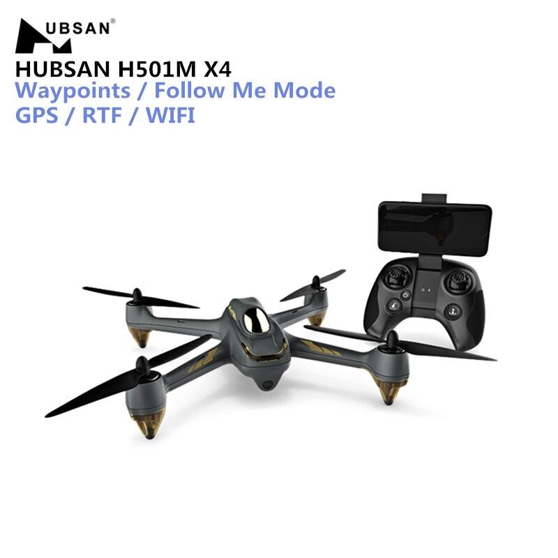 Hubsan H501M X4 RC Zangão WI-FI FPV Brushless Zangão Com GPS Waypoints Siga-me Modo RTF RC Quadcopter Com Controle Remoto controle