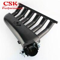 Black Intake Manifold +Universal VQ35TPS 80mm Throttle body Fits For BMW E36 E46 M50 M52 M54 325i 328i 323i M3 Z3 E39 528i