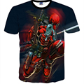 2016 Summer Fashion Casual Short Sleeve T Shirts Anime Deadpool 3D printed Men T-shirt hip hop casual t shirt plus size S-XXL