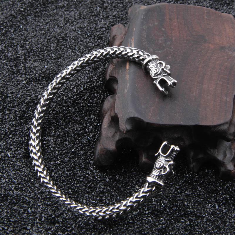 Stainless steel vikings Wolf Bracelets For Women Male Accessories Viking Bracelet Men Wristband Cuff Bracelets Bangles Teen Wolf