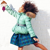 Moda Dół Kurtki Dla Dzieci Dziewczyny Płaszcz Zimowy Stałe Bawełniane Ubrania Dla Dzieci Łuk Zdejmowana Nasadka Dziecięce Długi Rękaw Kurtki Nowy 3-8 T