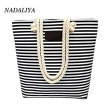 Woman messenger bags Canvas Shoulder Bags Casual Female Beach Bag stripe Printed Shopping Bag Ladies Canvas Tote Bolsas Feminina