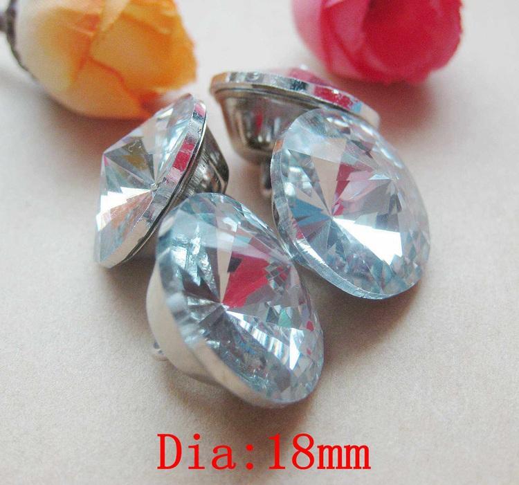 30PCS/LOT FREE SHIPPING REDBUD 18 MM CRYSTAL BUTTONS GLASS FOR SOFA BED DECORATION