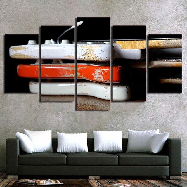 Hd Dicetak Kanvas Poster Bingkai Rumah 5 Panel Kayu Antik Klasik Dekorasi Ruang Tamu Dinding Seni