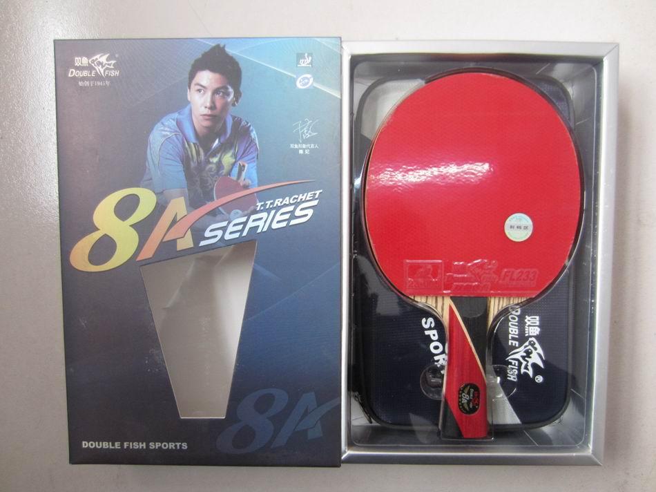 D'origine fini raquettes double poisson 8 étoiles 8ae 8ac tennis de table raquettes sports de raquette carbone lame rapide boucle d'attaque