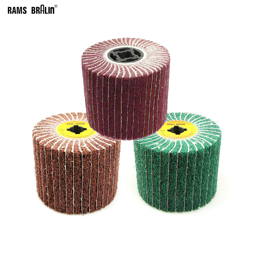 1 Piece 120*100*19mm Non-woven Satin Combi Mop Wheel Polishing Striping Wheel For Stainless Steel