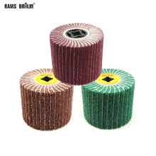 1 piece 120*100*19mm Non woven Satin Combi Mop wheel Polishing Striping Wheel for Stainless Steel