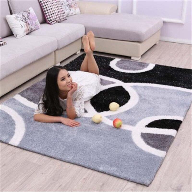 200x300 CM doux moderne Shaggy teints tapis pour salon maison chambre tapis et tapis de fourrure tapis coureur grand tapis de sol doux