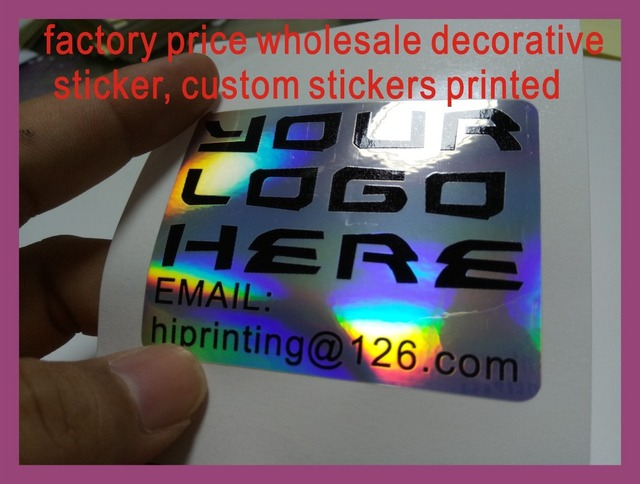 Factory price wholesale decorative sticker custom stickers printed