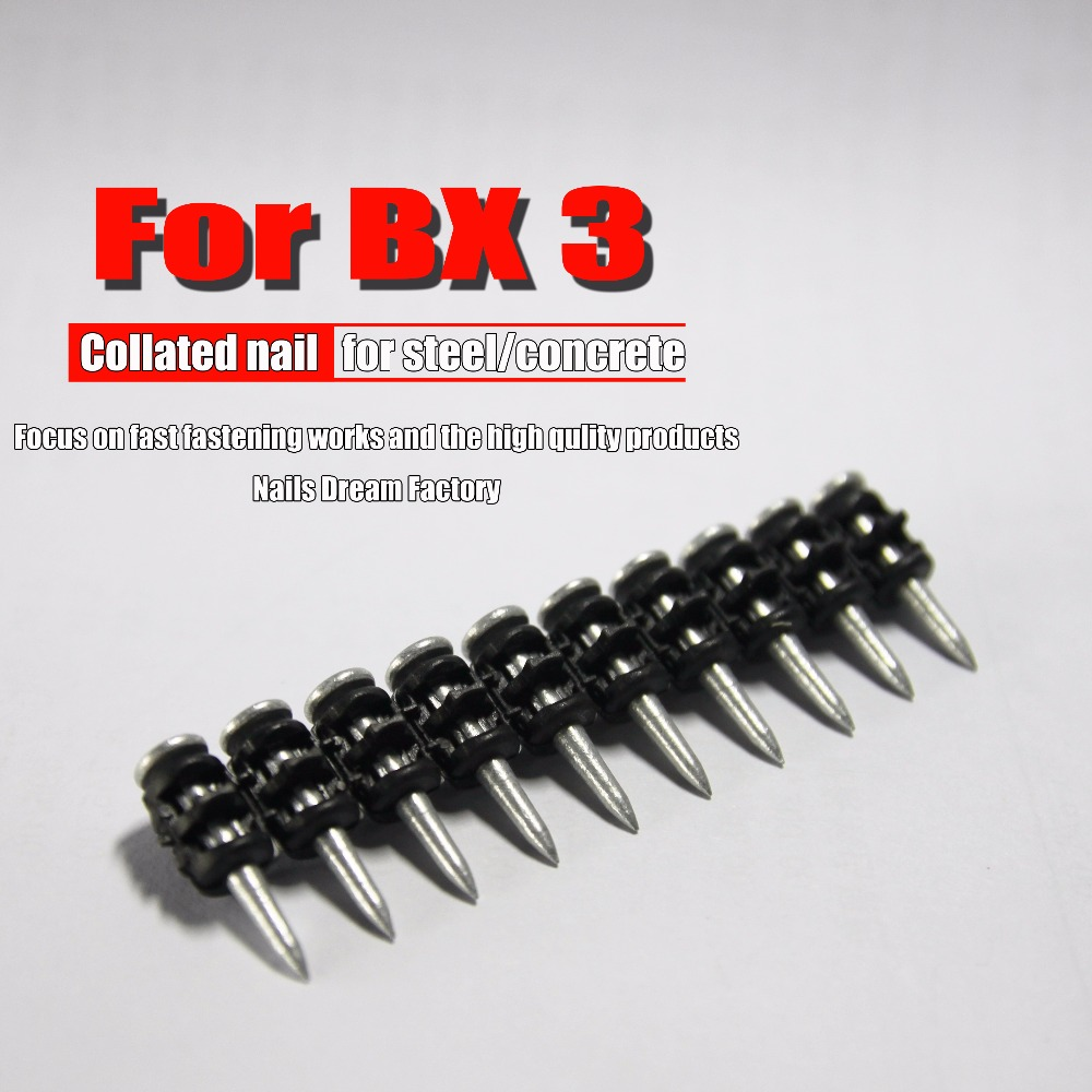 Nails For HILTI BX3 Cordless BX3 Gas Nails For Hand Tools  Steel Nails For Cement Board Steel Al-alloy For Home Decoration Use