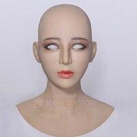 (Haene+)Realistic Human face Crossdress Silicone Full Head With Neck Female Face Kigurumi Cosplay DMS Mask Crossdresser DOLL