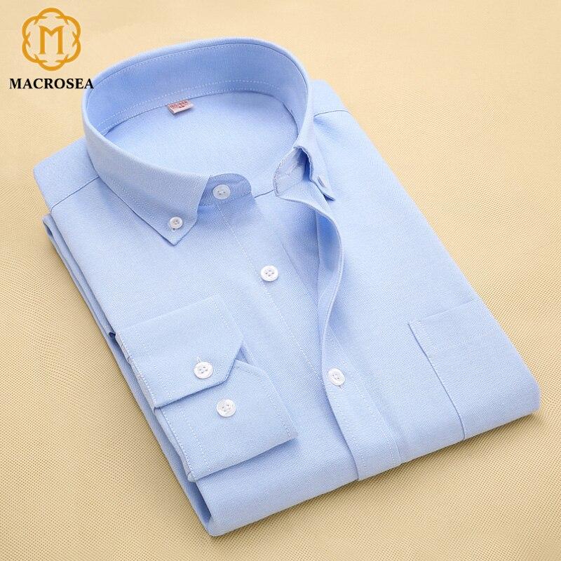Oxford Casual Long Sleeve Dress Shirt