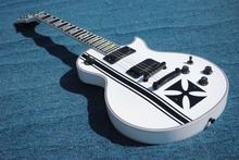 2016 New + Factory + Real Iron Cross ESP James Hetfield signature electric guitar Snow White ESP Iron Cross guitar Free Shipping(China)