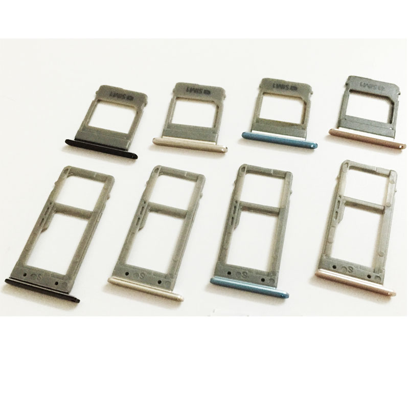 1 Set Dual/Single Sim Tray For Samsung Galaxy A5 (2017) A520 A7 A720 SIM Card Tray Slot Holder Replacement Part