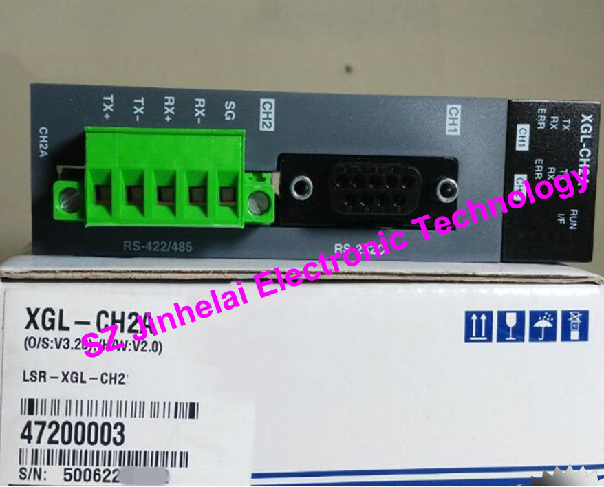 100% New and original XGL-CH2B LS(LG) PLC Communication module,RS-232/RS-422 (substitution XGL-CH2A) new original 1756 eweb plc 100 mbps communication rate controlnet communication module