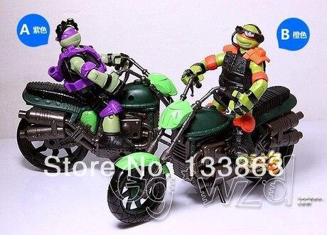Free Shipping playmates TMNT <font><b>Teenage</b></font> <font><b>Mutant</b></font> <font><b>Ninja</b></font> <font><b>Turtles</b></font> <font><b>Donatello</b></font> with motorcycle Action Figure PVC 1set Retail