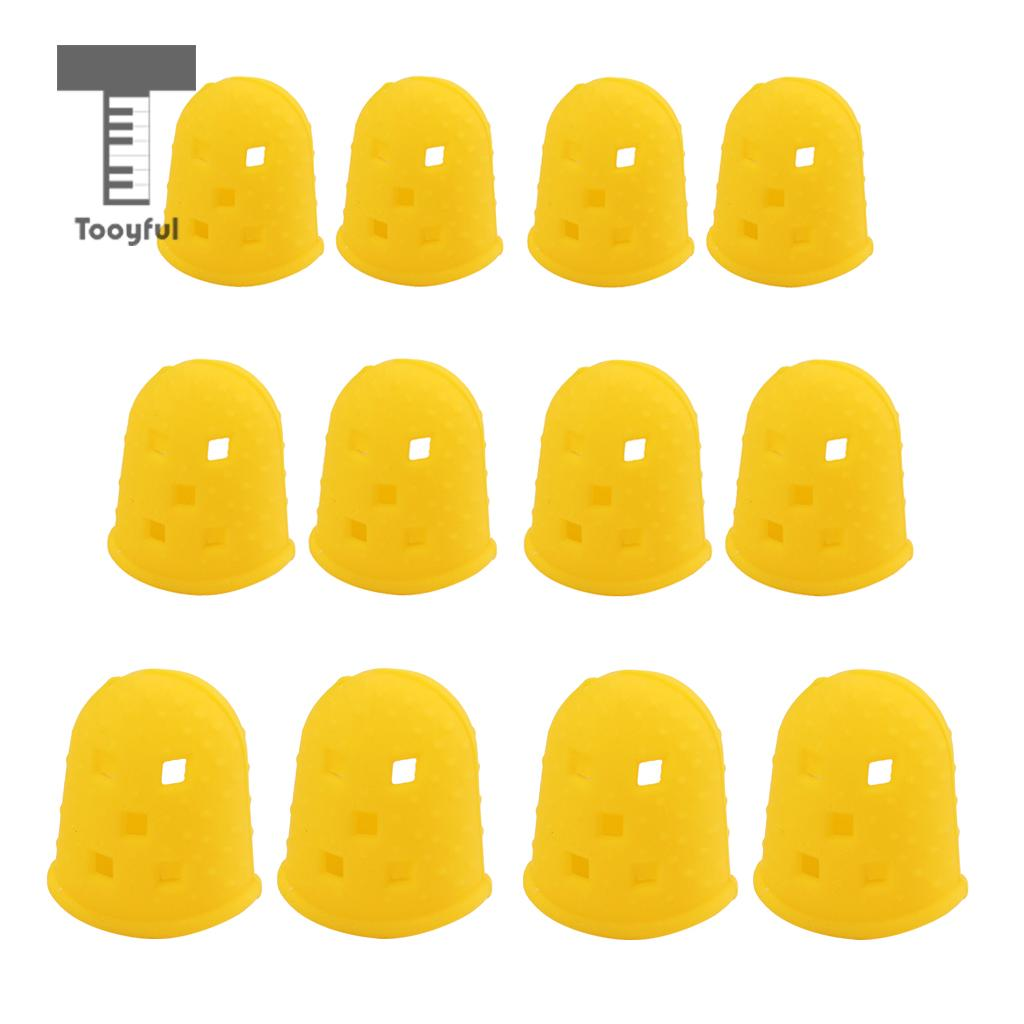 Tooyful 4pcs Guitar Thumb Finger Picks Protector Silicone Finger Guards for Guitar Lover Beginner